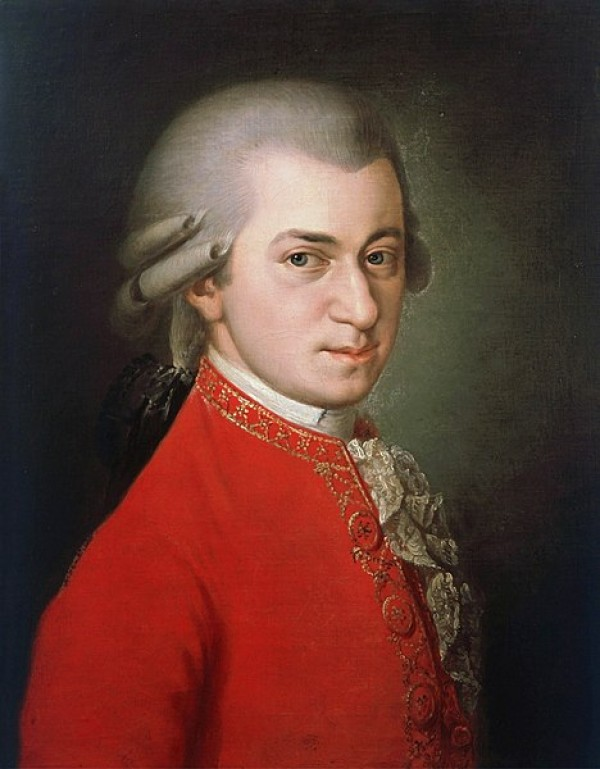 Wolfgang Amadeus Mozart, portrait posthume par Barbara Kraft, 1819