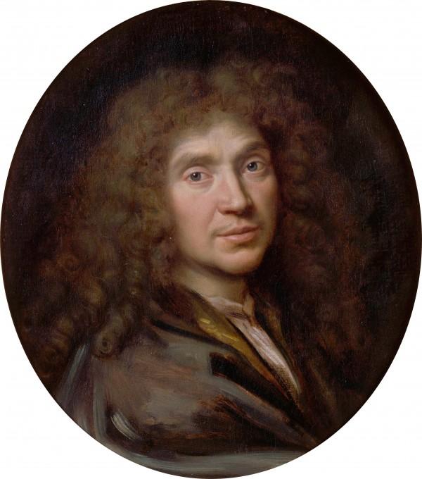 Pierre Mignard - Portrait de Jean-Baptiste Poquelin dit Molière (1622-1673)
