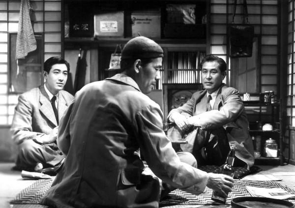 Koji Tsuruta (Non-chan), , Chishû Ryû (Sadao Hirayama ), Shin Saburi (Mokichi)
