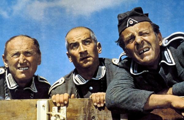 Bourvil, Louis de Funès, Terry Thomas