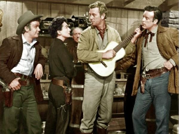 Ben Cooper, Joan Crawford, Sterling Hayden, Scott Brady