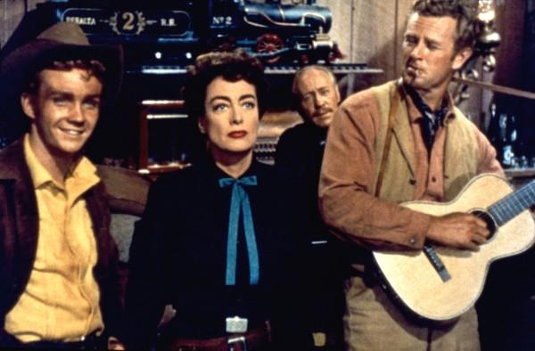 Ben Cooper, Joan Crawford, Frank Marlowe, Sterling Hayden