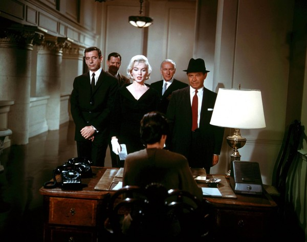 Yves Montand, Tony Randall, Marilyn Monroe, Wilfrid Hyde-White, David Burns