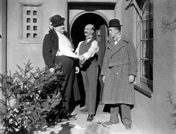 Oliver Hardy, James Finlayson, Stan Laurel