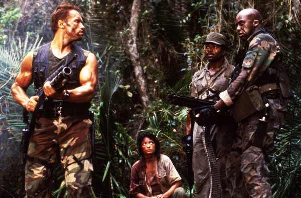 Arnold Schwarzenegger, Elpidia Carrillo, Carl Weathers, Bill Duke