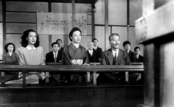 Setsuko Hara (Noriko), Yumeji Tsukioka (l'amie de Noriko), Chishû Ryû (le père)
