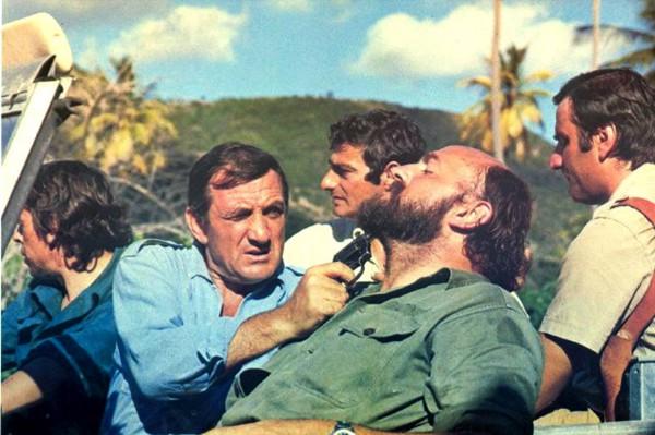 Jacques Brel, Lino Ventura, Charles Denner, Aldo Maccione et personnage