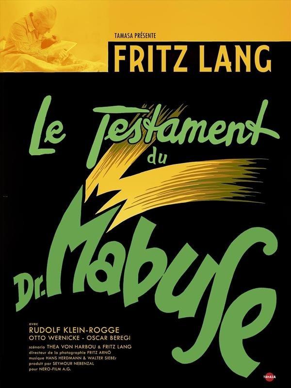 Le Testament du Docteur Mabuse, affiche version restaurée