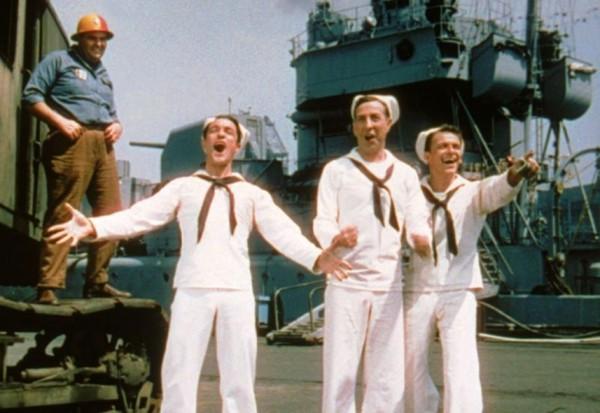 Gene Kelly, Jules Munshin, Frank Sinatra