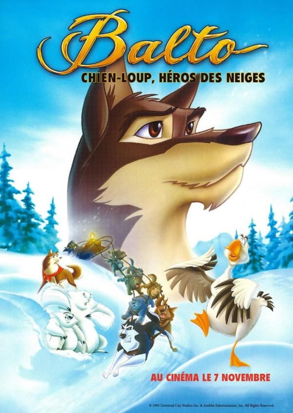 Balto, chien loup, héros des neiges, affiche
