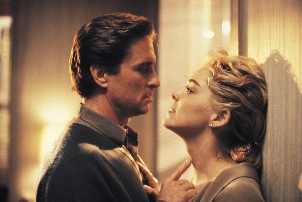 Michael Douglas (Nick Curran), Sharon Stone (Catherine Tramell)