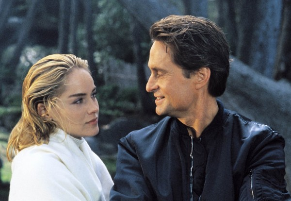 Sharon Stone (Catherine Tramell), Michael Douglas (Nick Curran)