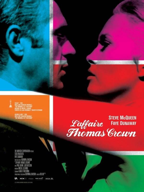 L'Affaire Thomas Crown, Affiche version restaurée