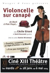 Cécile Girard : Violoncelle sur Canapé au Ciné XIII Théâtre
