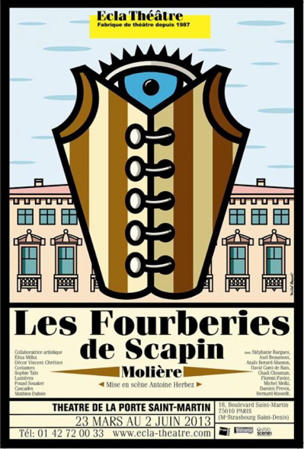 Les fourberies de scapin th tre de la porte saint - Theatre de la porte saint martin plan ...