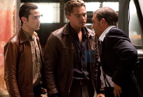 Joseph Gordon-Levitt, Leonardo DiCaprio, Tom Hardy