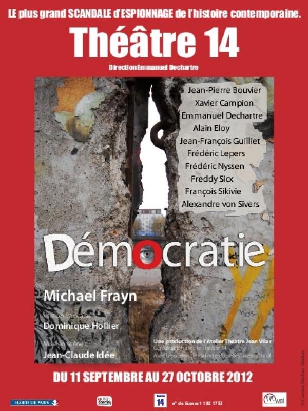 Affiche du spectacle Démocratie au Théâtre 14