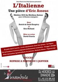 L'Italienne : Affiche au Funambule Montmartre