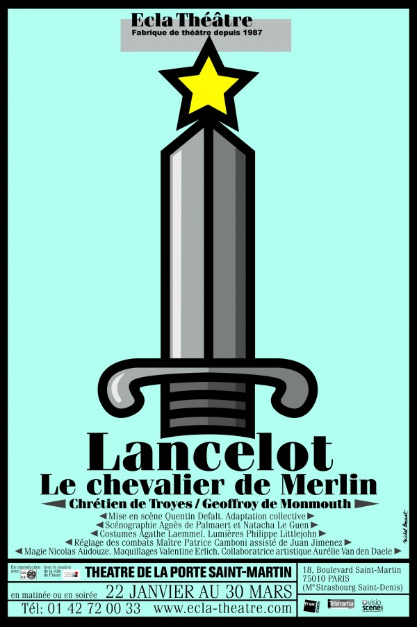 Lancelot le chevalier de merlin th tre de la porte - Theatre de la porte saint martin plan ...
