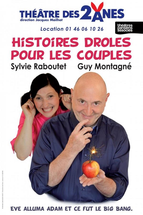 Histoires drôles pour les couples : Affiche au Théâtre des Deux Ânes