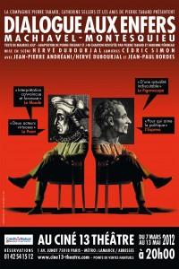 Dialogue aux enfers : Machiavel - Montesquieu au Ciné 13 Théâtre