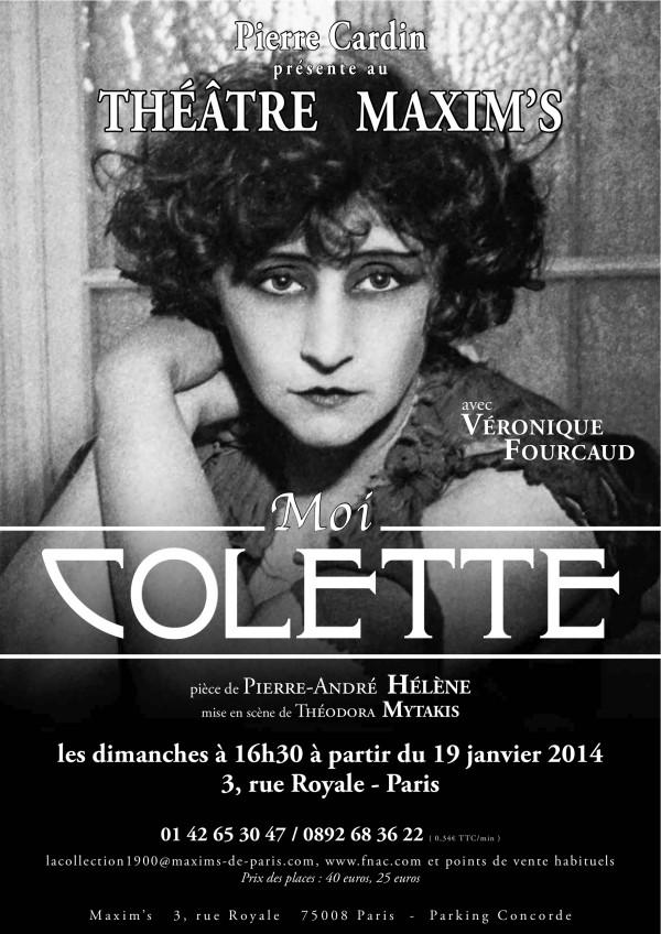 Moi, Colette : Affiche chez Maxim's