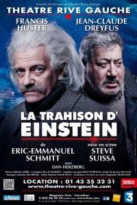La trahison d'Einstein au Théâtre Rive Gauche : Affiche