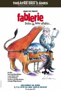 Affiche Fablerie, drôles de bêtes affables au Théâtre des Deux Ânes