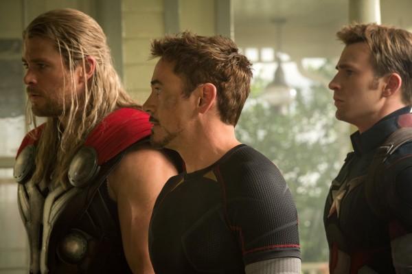 Chris  Hemsworth, Robert Downey Jr, Chris Evans