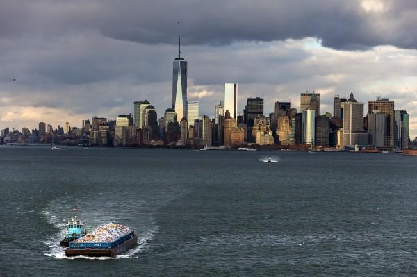 Ile de Manhattan et le One World Trade Center, New York, Etats-Unis d'Amérique