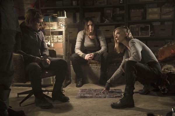 Josh Hutcherson, Jennifer Lawrence, Natalie Dormer (Cressida)