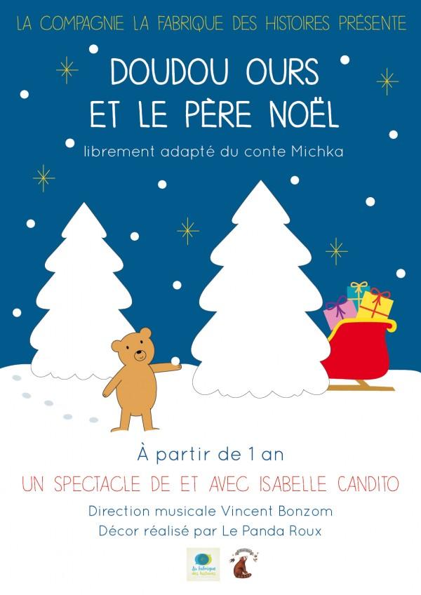 Doudou ours et le Père Noël : Affiche