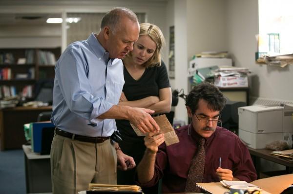 Michael Keaton, Rachel McAdams, Brian d''Arcy James (Matty Carroll)