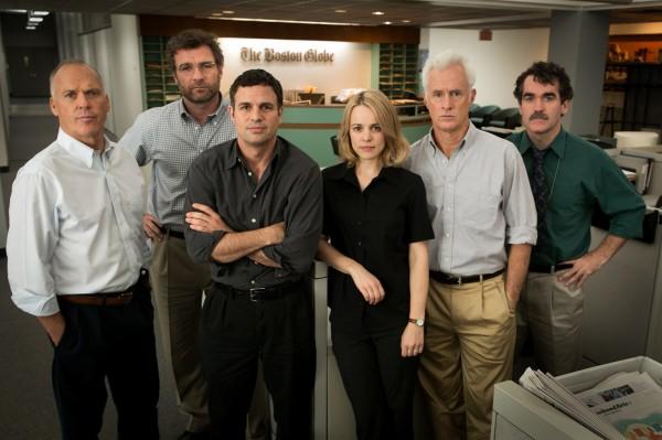Michael Keaton, Liev Schreiber (Marty Baron), Mark Ruffalo, Rachel McAdams, John Slattery, Brian d''Arcy James (Matty Carroll)