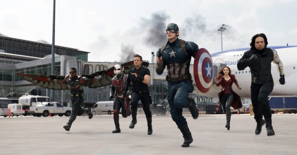Anthony Mackie, Paul Rudd (Ant-Man/Scott Lang), Jeremy Renner, Chris Evans, Elizabeth Olsen, Sebastian Stan