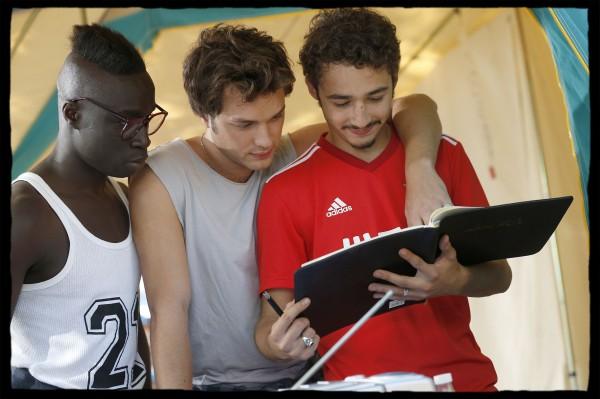 Cyril Mendy (Robert), Louka Meliava (Benji ), Jules Ritmanic (José)