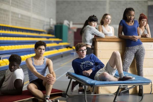 Jimmy Labeeu (au centre), personnages