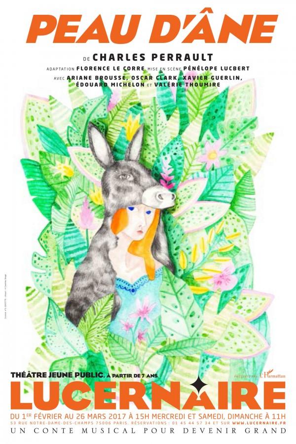 Peau d'âne au Théâtre du Lucernaire : Affiche