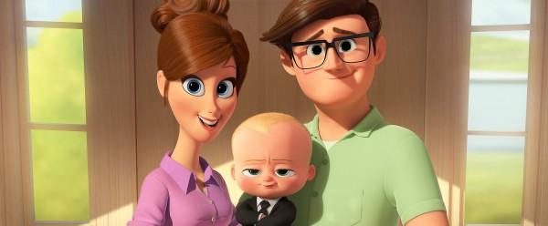 La mère, le bébé, le père