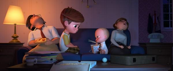 Le père, Tim, le bébé, la mère