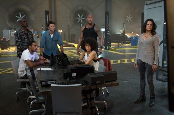 Tyrese Gibson, Ludacris, Scott Eastwood, Nathalie Emmanuel (Ramsey), Dwayne Johnson, Michelle Rodriguez