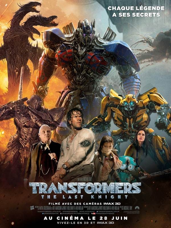 Transformers : The Last Knight, Affiche