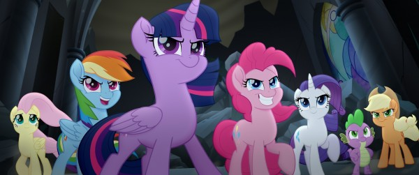 Fluttershy, Raqinbow Dash, Twilight Sparkle, Pinkie Pie, Rarity, Spike, Applejack