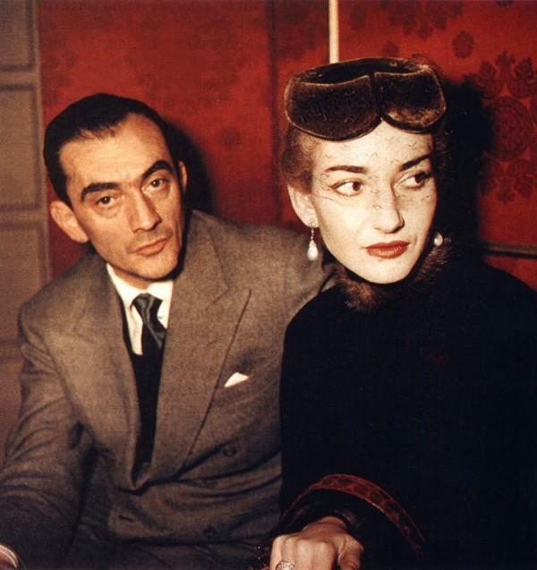 Luchino Visconti et Maria Callas à La Scala, 1954