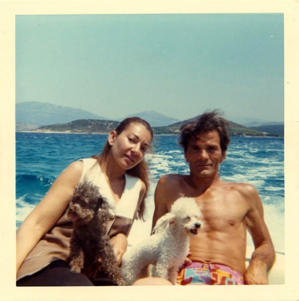 Maria Callas et Pier Paolo Pasolini en vacances en Grèce, 1970