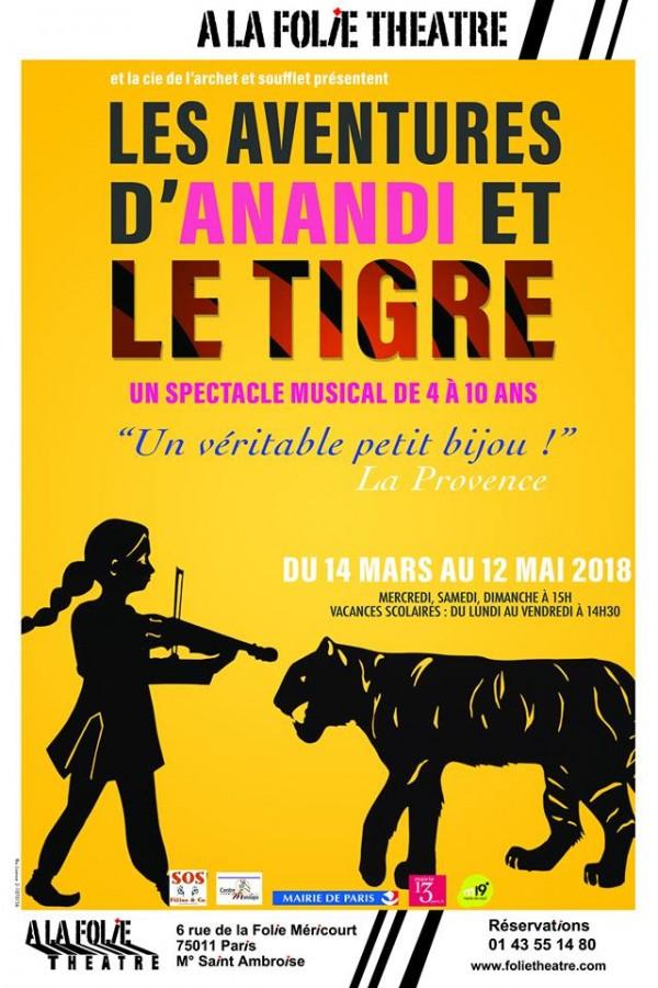 Les Aventures d'Anandi et le tigre à la Folie Théâtre