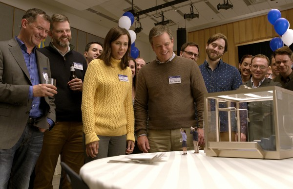 Kristen Wiig, Matt Damon (au centre), personnages