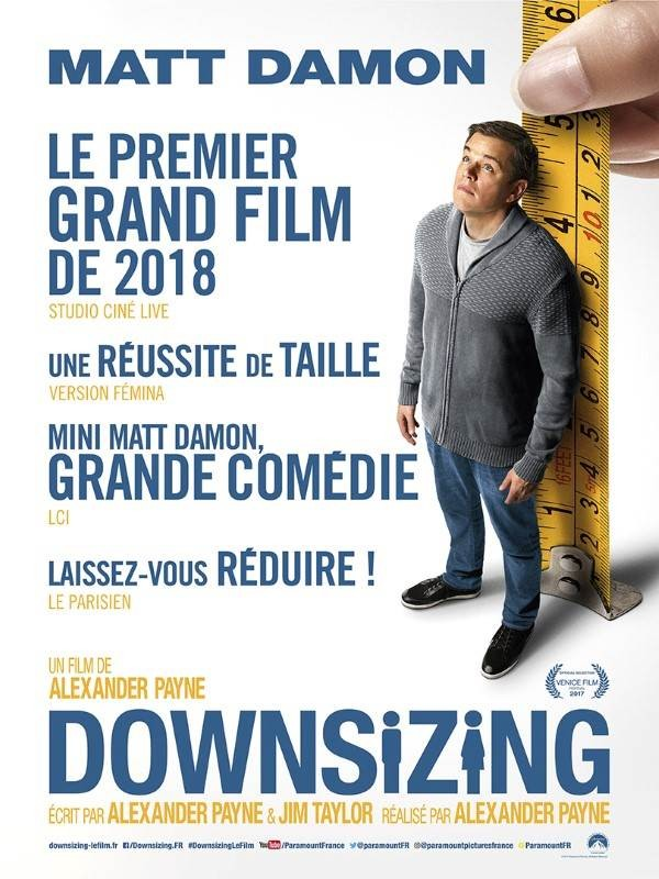 Downsizing, Affiche