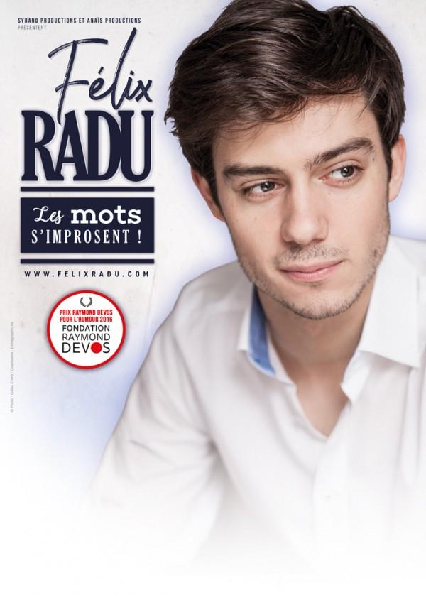 Félix Radu : Les mots s'improsent - Affiche