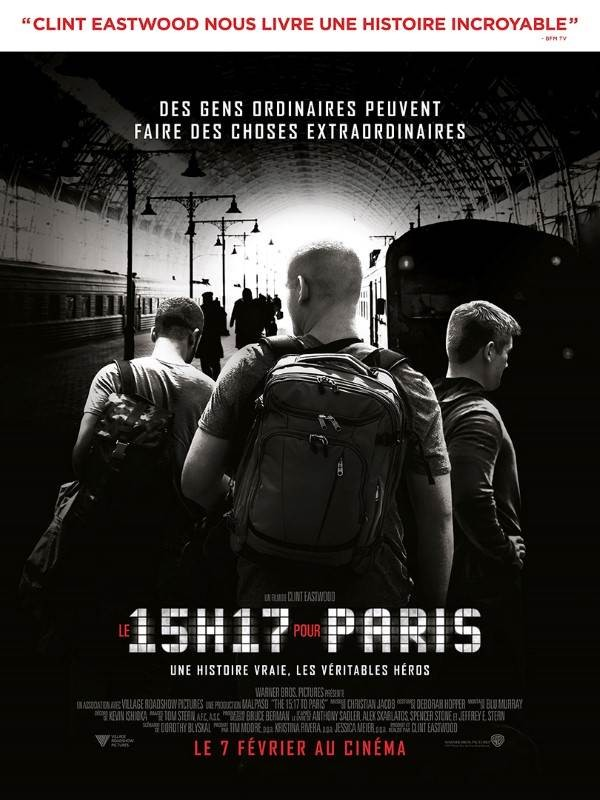 Le 15h17 pour Paris, Affiche